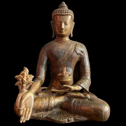 Medizin Buddha Figur Bronze (22cm) Bhaisajyaguru Statue Himalaya