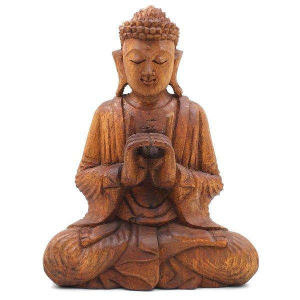Yoga Mudra Buddha (31cm) Holz Figur