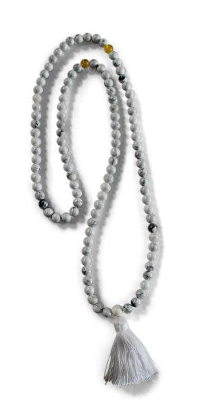 Gebetskette Mala aus weißem Marmor