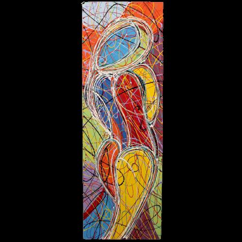 Weiblicher Akt Acryl Gemälde (150cm) Abstakte Kunst Thailand
