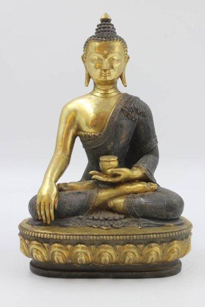Siddharta Gautama aus Bronze - Chinesischer Buddha