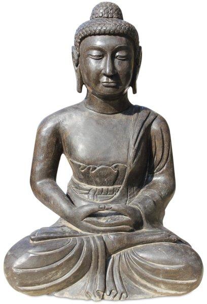 Garten Buddha Figur aus Naturstein, Amitabha