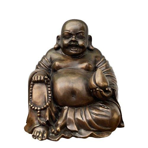 Happy Buddha Figur (35cm) Bronze Glücksbuddha