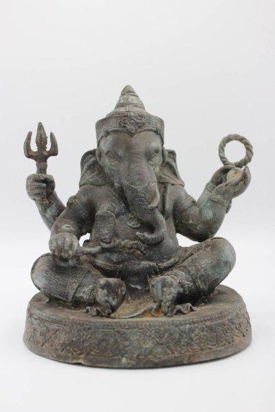 Ganesha Figur, Bronze - Hindu Gottheit