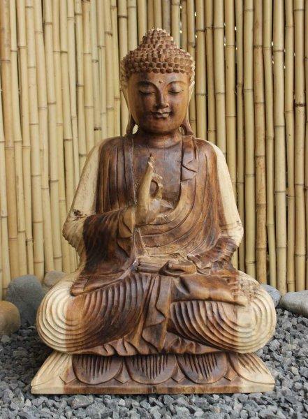 Lehrender Buddha aus Holz - Figur aus China