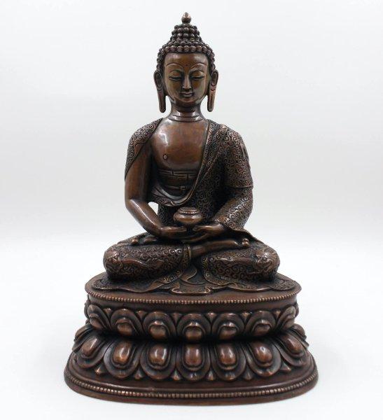 Exzellente Amitabha Kupfer Bronze Buddha Figur (37cm)