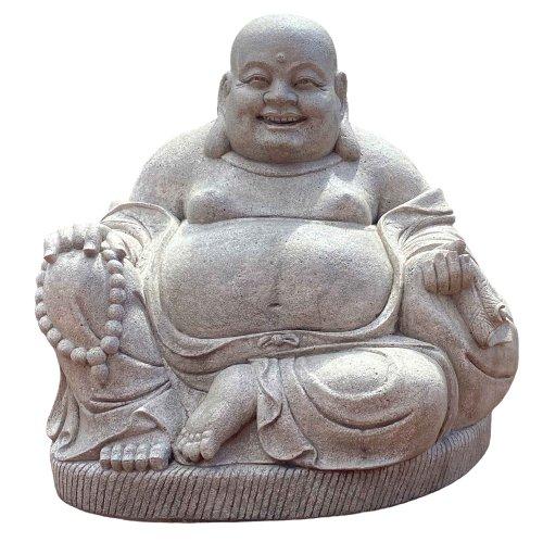 Gigantischer Happy Buddha Granit (125cm) Garten Hotai Statue
