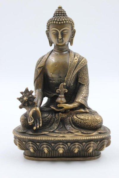 Medizin Buddha Figur aus Bronze, China