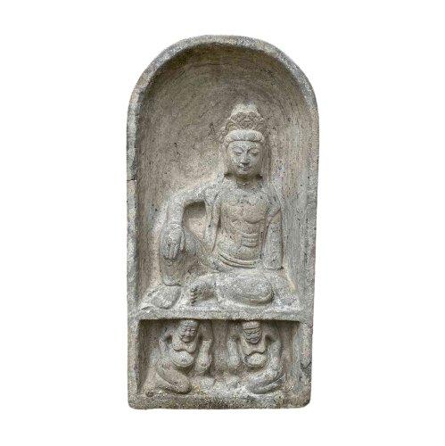 Naturstein Guanyin Buddha (80cm) Kwan Yin Statue