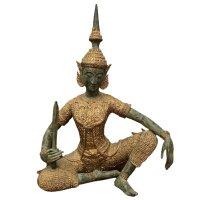 Thailändischer Tempelwächter Teppanom Bronze Figur