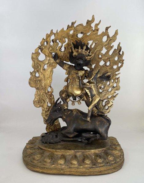 Yamantaka Bronze Figur aus Sammlernachlass