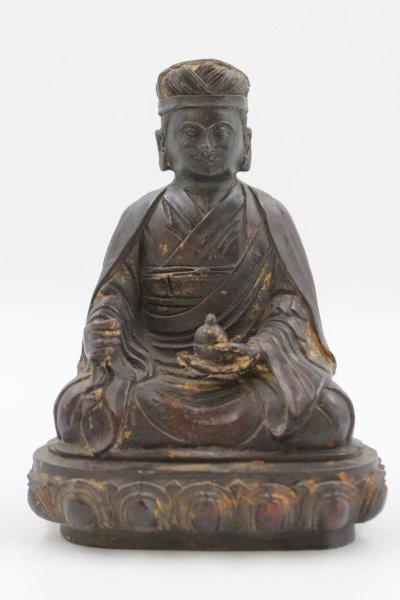 Buddhistische Lama / Guru Bronze Figur aus China