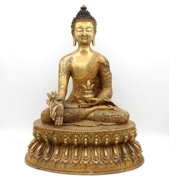 Medizin Buddha Figur (35cm) Bronze Statue
