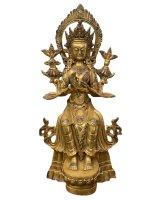 Maitreya Zukunft Buddha Figur (31cm) Bronze Statue Himalaya