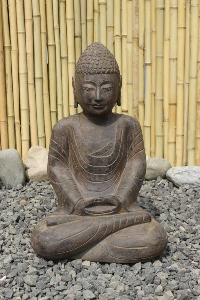 Amitabha Garten Buddha Statue aus Naturstein