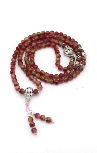 Meditationskette Mala aus Achat Perlen - Gebetskette
