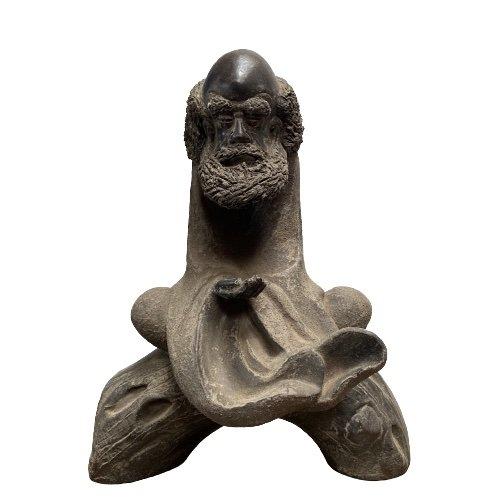 Arhat Lohan Figur aus China, Keramik - handmade