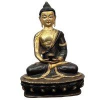 Amitabha Buddha Bronze Figur (21cm) 24 K feuervergoldet