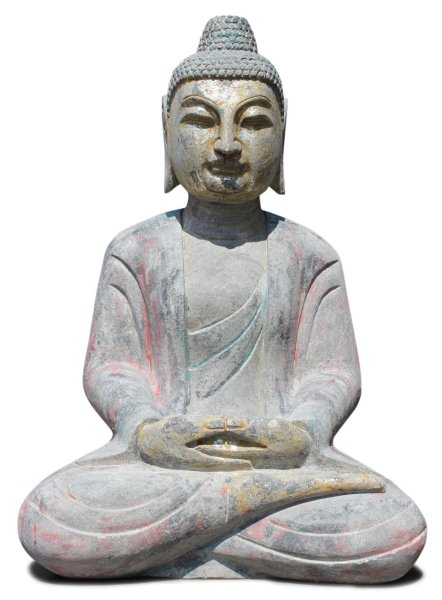 70 cm Buddha Figur aus Naturstein