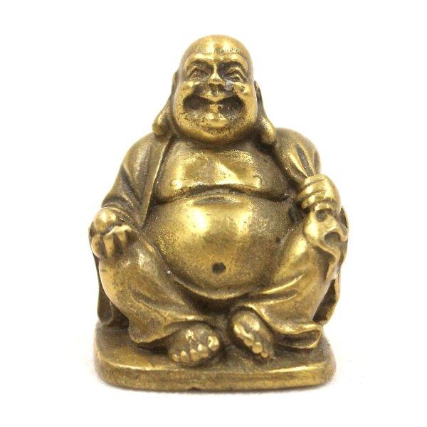 Mini Glücksbuddha Hotai (4cm) Bronze Figur