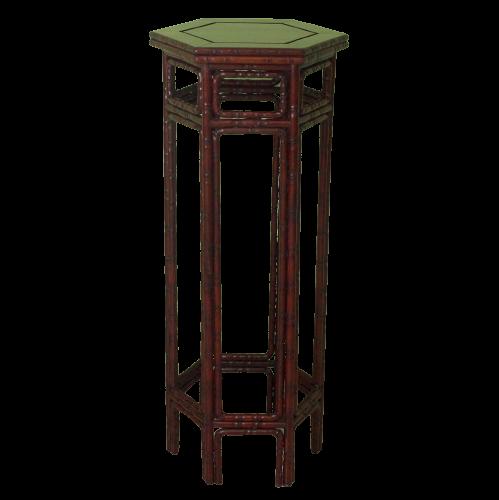 Chinesischer Beistelltisch (91,5cm) im Bambus-Style aus Nachlass