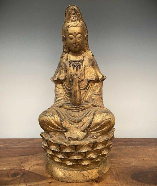 Guan Yin / Kwan Yin Buddha Statue aus Bronze