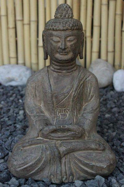 Amitabha Figur aus Naturstein für den asiatischen Garten