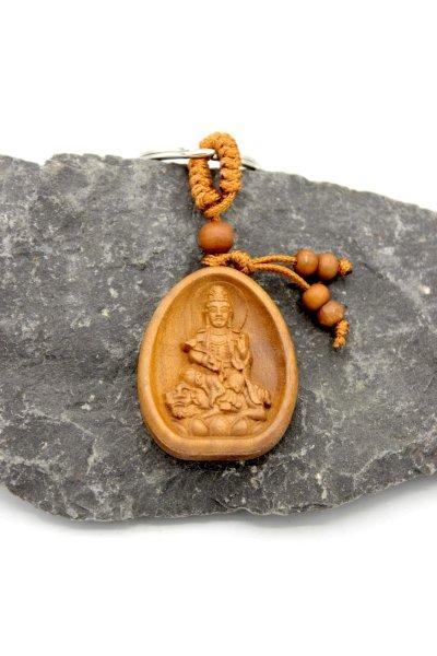 Kwan-Yin Schlüsselanhänger aus Rosenholz