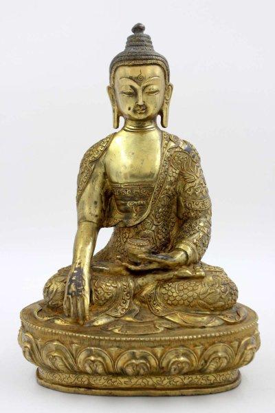 Chinesische Buddha Figur (31cm) Bronze Siddharta