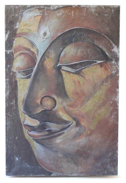 Ayutthaya Buddha Kopf - Fresco