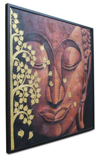 Blattvergoldetes Buddha Gemälde, Thailand