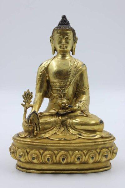 Medizin Buddha Figur aus Bronze
