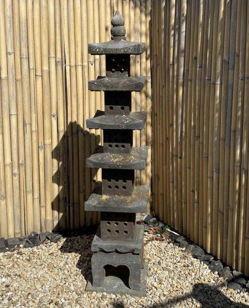 Asiatische Pagode Garten Steinlaterne - Geisterhaus - 180cm