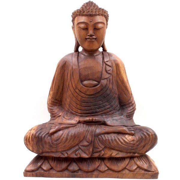 Amitabha Buddha Figur (50cm) Holz Figur Südostasien