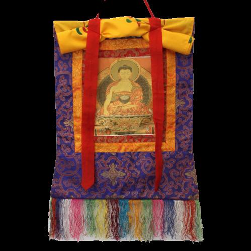 Amitabha Thangka Buddha Figur (49cm) Stickerei