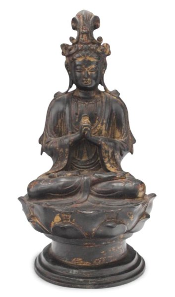 Guan-Yin / Kwan-Yin Buddha Figur, Bronze