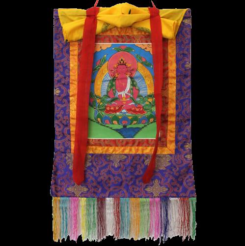 Tibet Amitayus Buddha Thangka (55cm) Buddhistisches Altar Wandbild