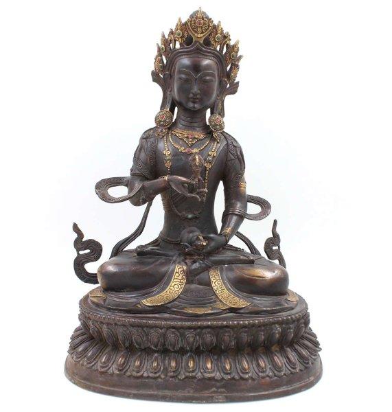 Buddha Figur Vajrasatva aus Bronze - 43cm