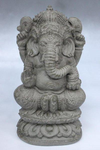 Ganesha Figur aus Steinguss