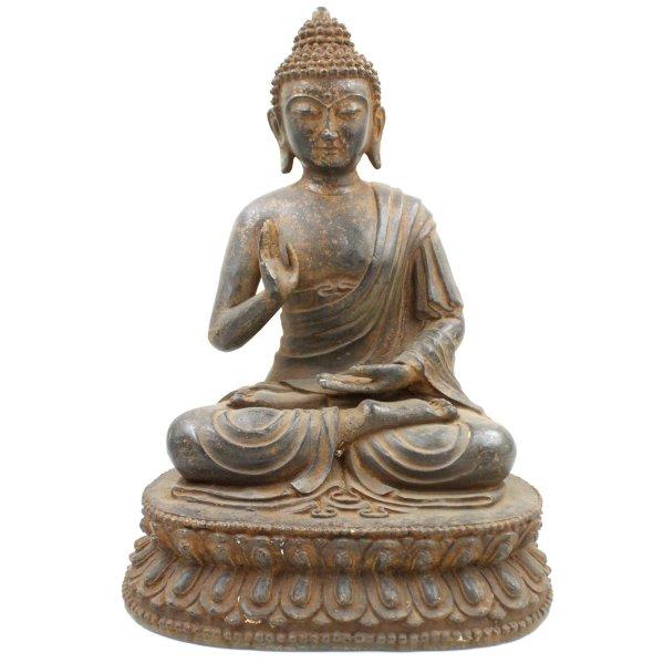 Buddha aus Gusseisen (45cm) Amoghasiddhi Figur