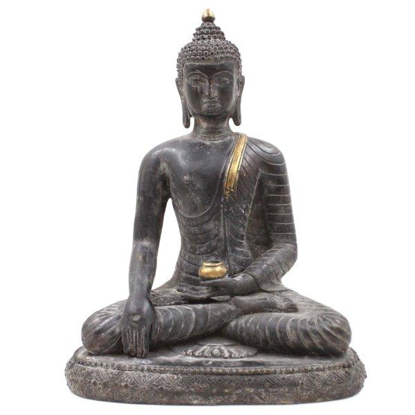 Siddharta Buddha Figur (32cm) Bronze Shakyamuni