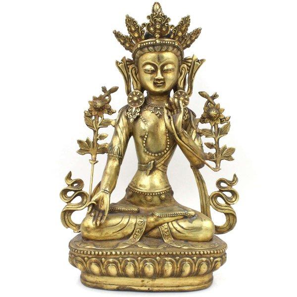 Weiße Tara Buddha Figur (42,5cm) Bronze Statue China