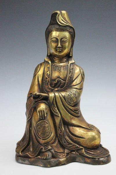 Guan Yin / Kwan Yin Buddha Figur, Bronze