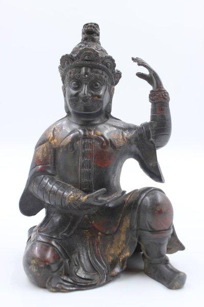 Tempelwächter aus Bronze - China