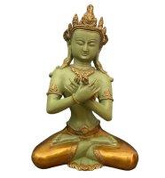 Vajradhara Buddha Figur aus Bronze, Nepal