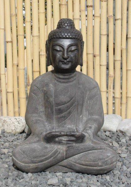 Stein Buddha Figur f. d. Asien Garten - 45 cm groß