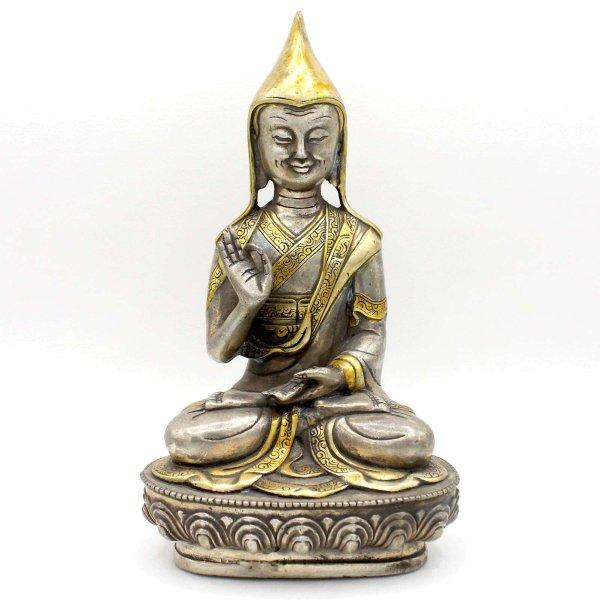 Tsongkhapa (22cm) Mönch Figur Bronze