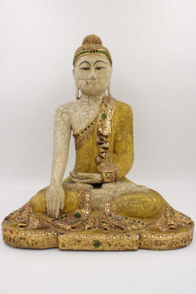 Buddha Figur aus Thailand - sitzend