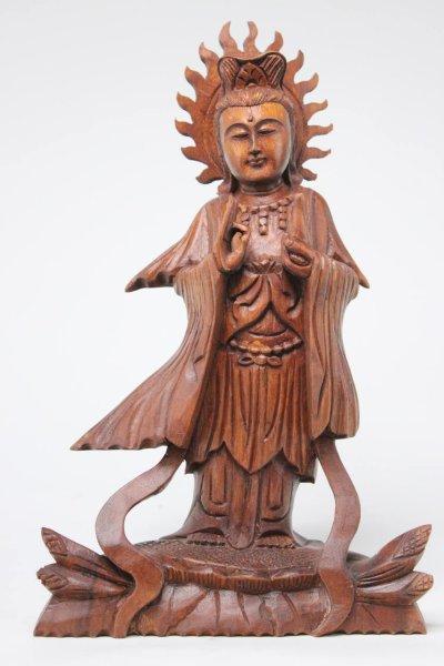 Kwan-Yin Buddha Figur, Holz