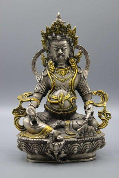 Kubera/Jambhala Figur aus Bronze